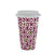 Hugs & Kisses Travel Mug Pink and Gold 15cm 6PK