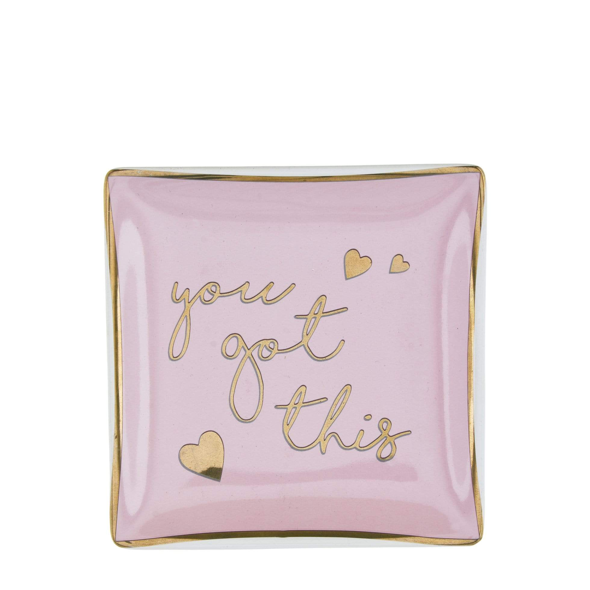 Candlelight Home Trinket Boxes & Dishes You Got This Square Trinket Dish Pink and Rose Gold 12cm 12PK