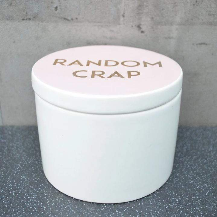 Random Crap Trinket Box Pink and Rose Gold 14cm 4PK