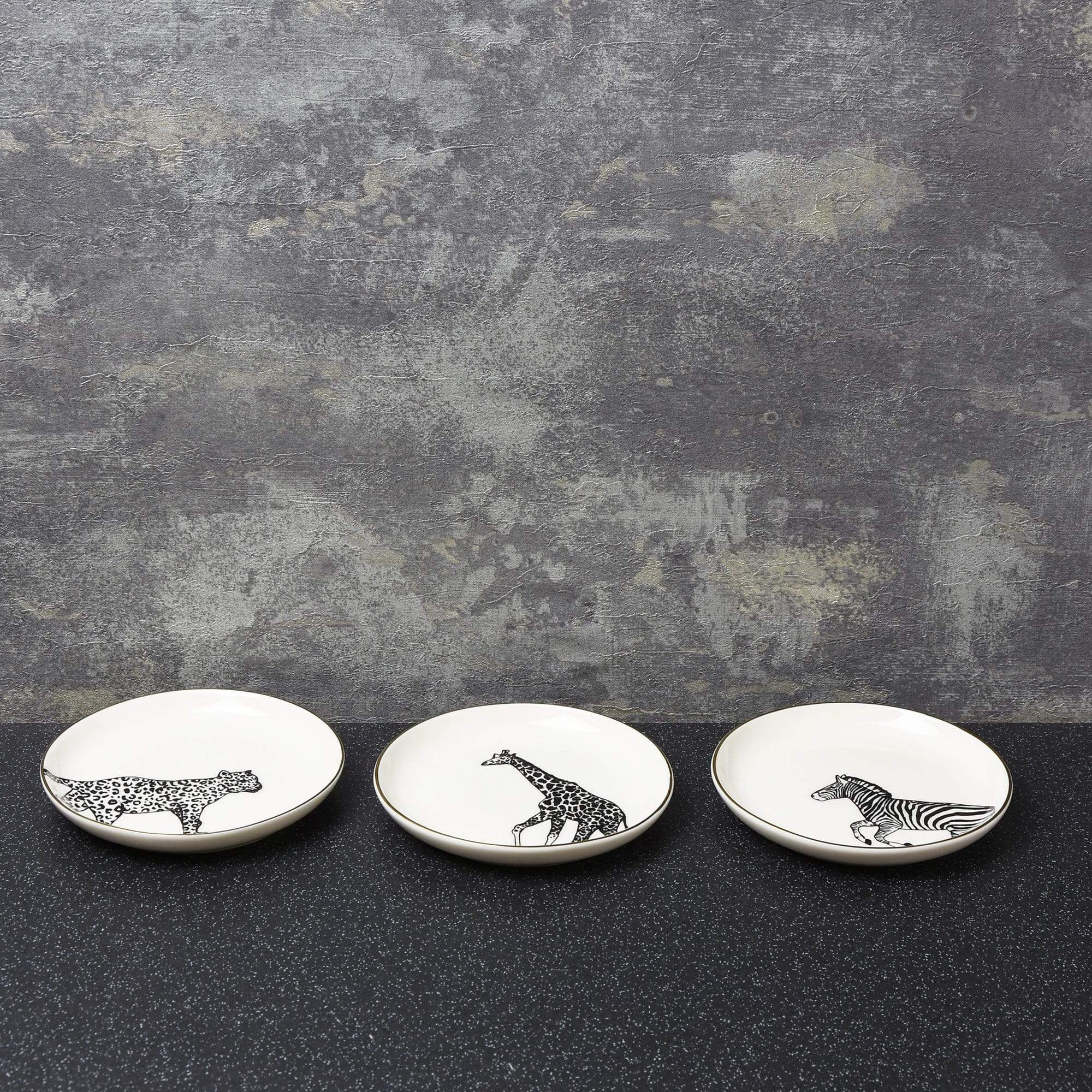 Candlelight Home Trinket Dish Animal Luxe Assorted Trinket Dishes Black 2.2cm 9PK