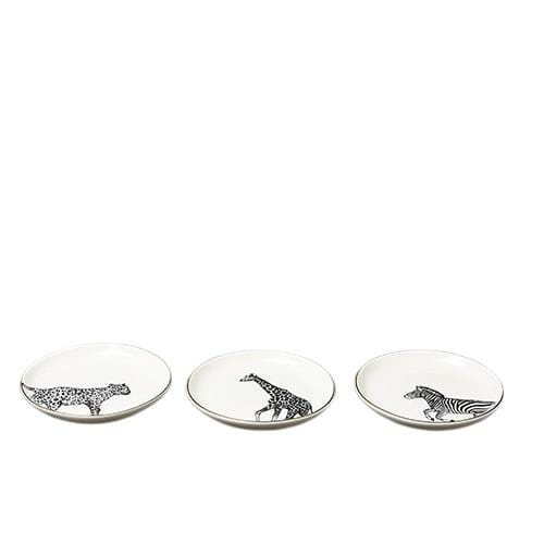 Animal Luxe Assorted Trinket Dishes Black 2.2cm 9PK