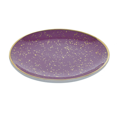 Candlelight Home Trinket Dishes Round Trinket Dish Small Dots Pink and Rose Gold 15cm 8PK