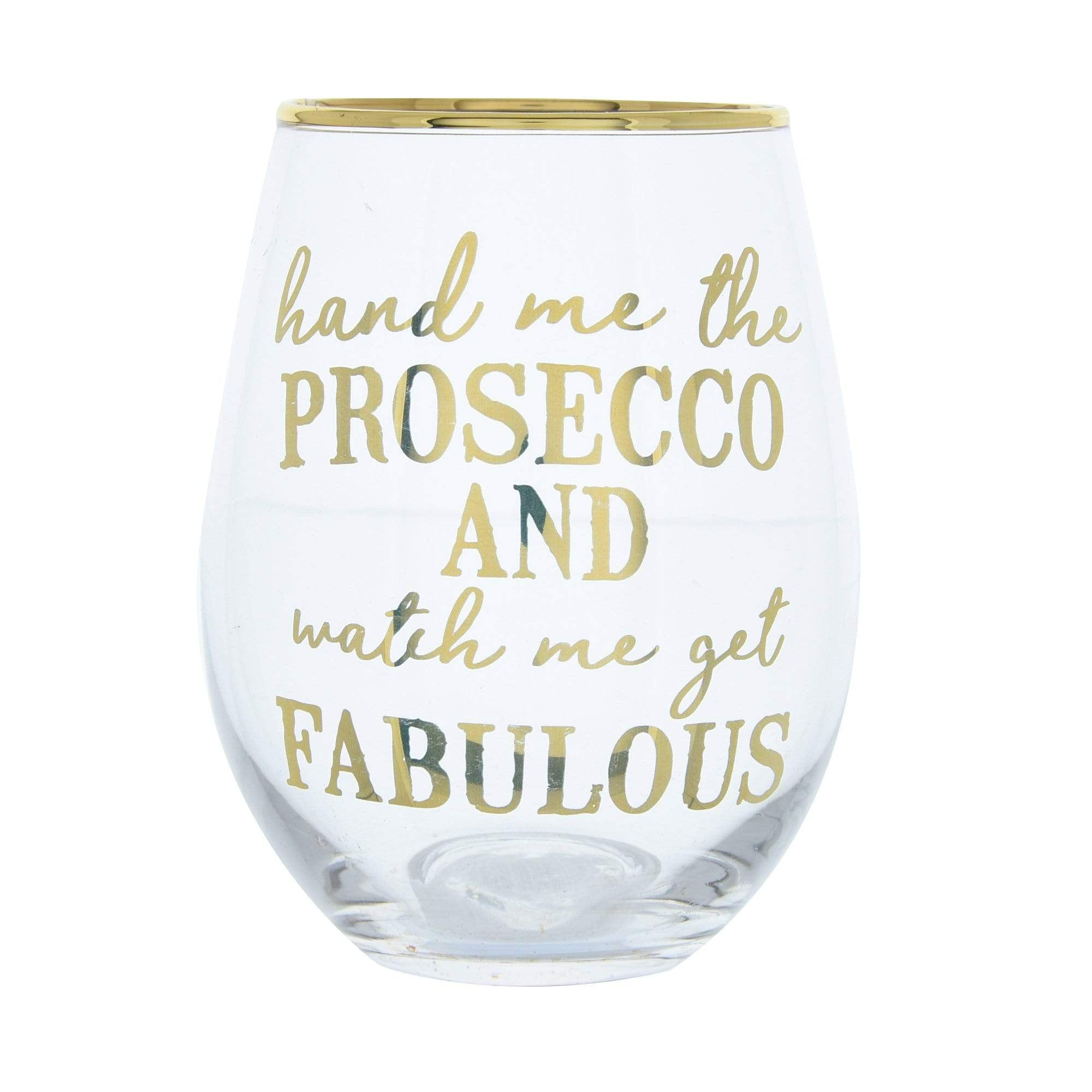 Candlelight Home Tumblers Glass Tumbler Hand Me The Prosecco Gold Electroplated 12cm 6PK