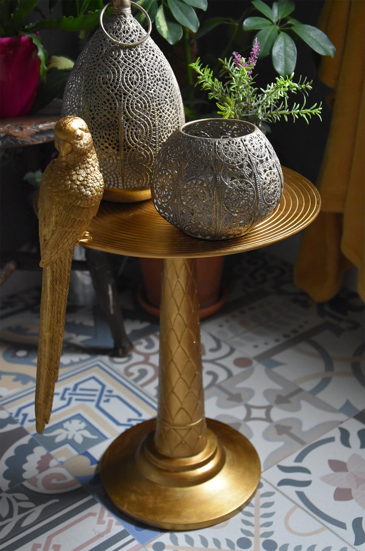The Gold Parrot Table