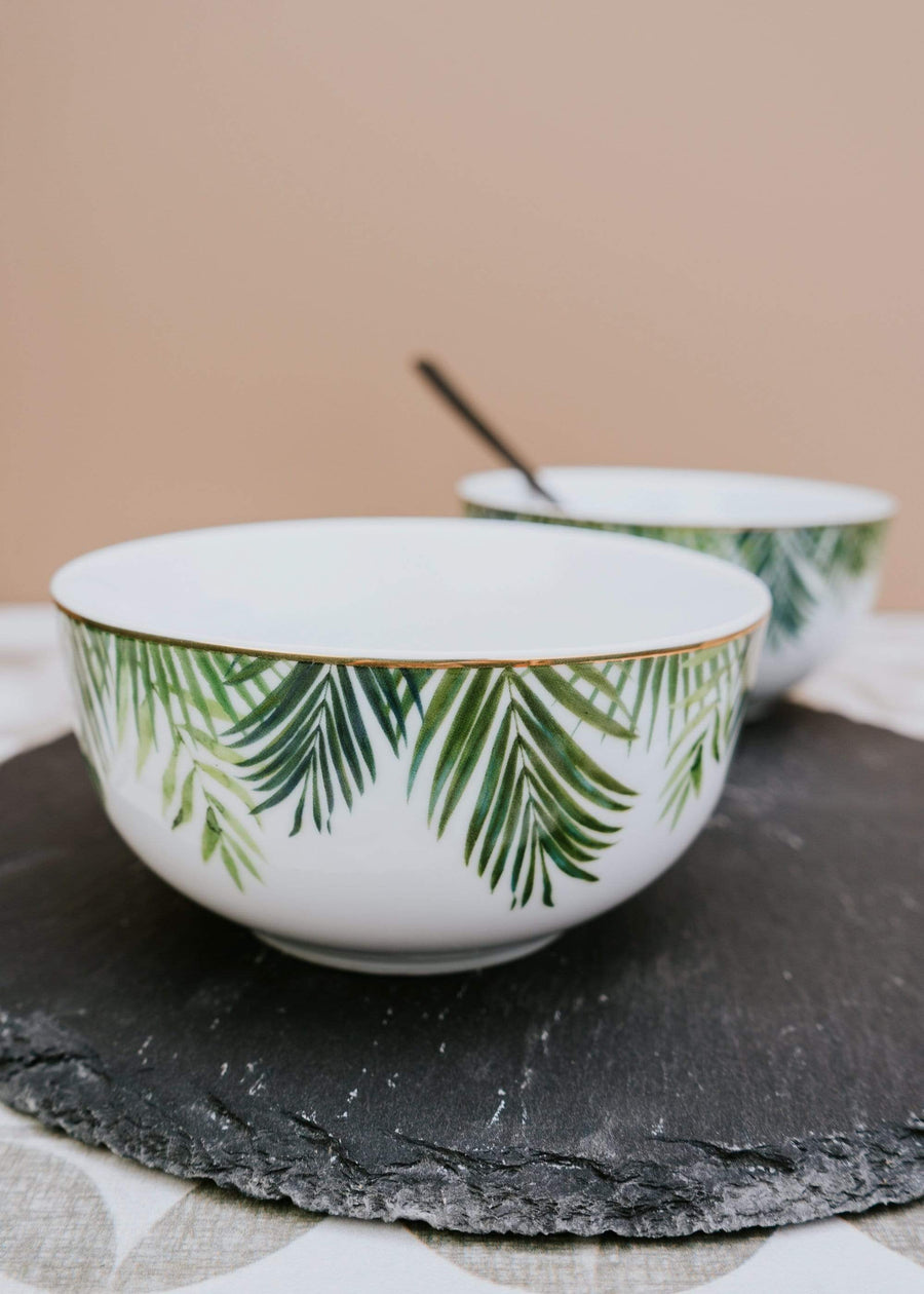ESME Home Bowls Set of Four Emerald Eden Bowls