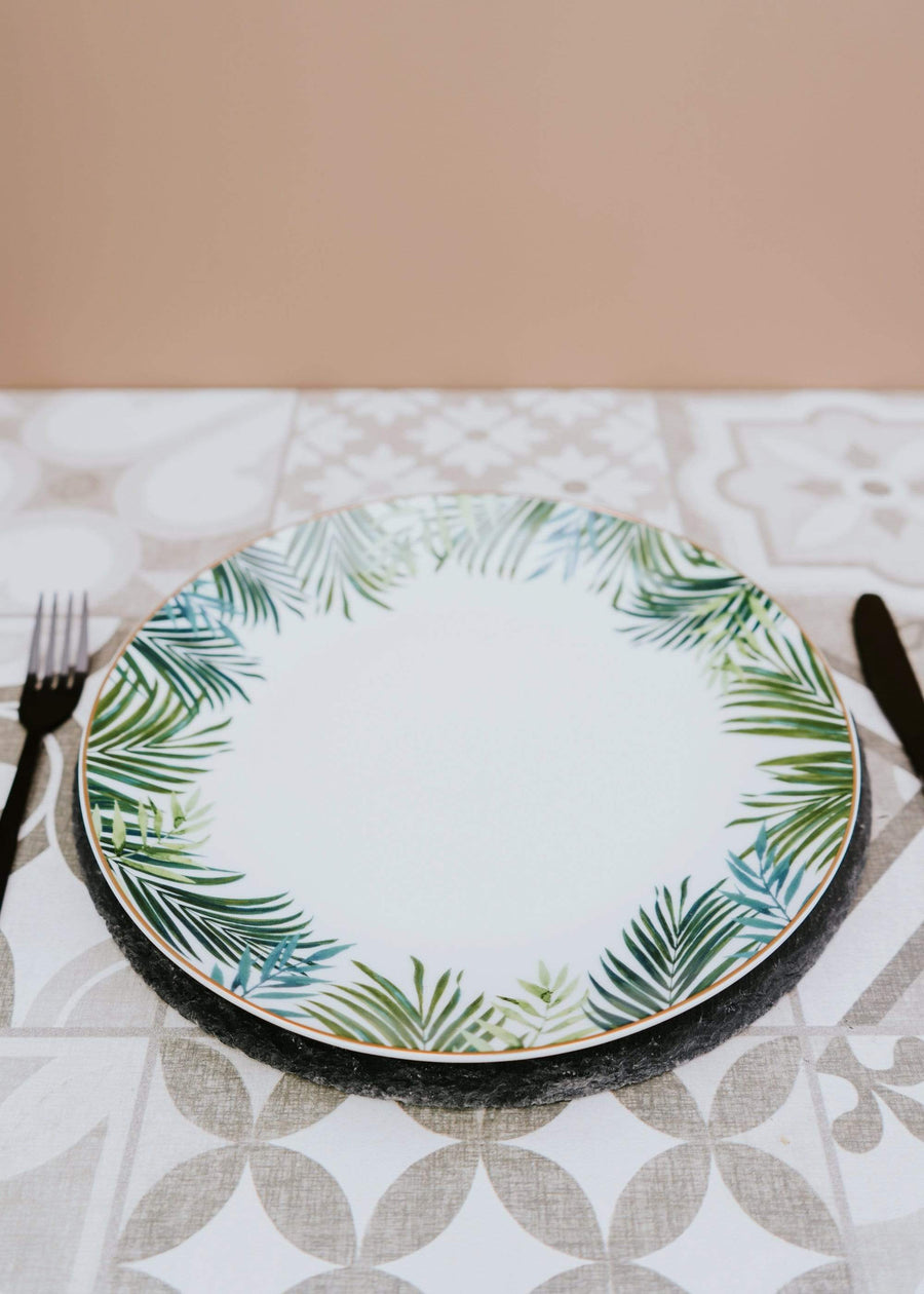 ESME Home Dinner Plates Set of Four Emerald Eden Dinner Plates