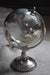 ESME Homeware Globes Large Glass Globe on Metal Stand Silver