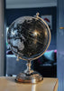 ESME Homeware Globes Small Globe on Metal Stand Black and Silver