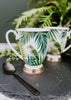 ESME Home Mugs Emerald Eden Set of 2 Fancy Footed Mug