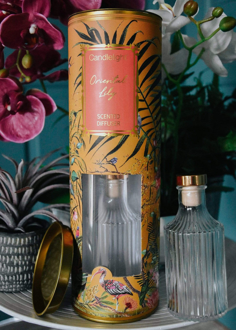 ESME Homeware Reed diffusers Ochre Chinoiserie - Reed Diffuser Oriental Lily Scent