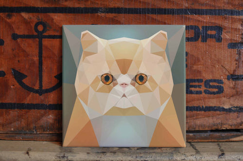 Persian Cat Ceramic Tile Coaster