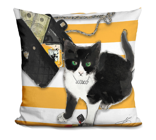 Money Cat Pillow