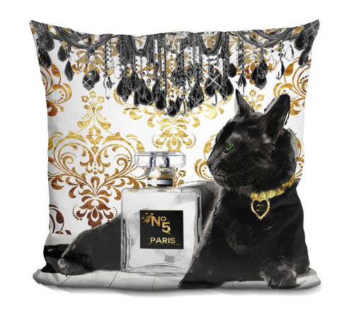 Fancy Chanel Cat Pillow