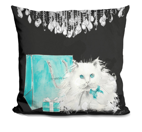 Kitty @ Tiffany's pillow
