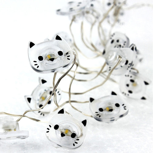 Cat Shape 20 LED String Lights