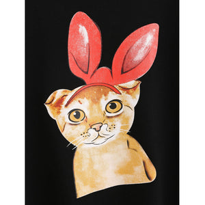 Bow Cat Sweatshirt