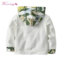 WEIXINBUY Children Sets Green Cat Baby Child Autumn Two-piece/Suit Cotton Casual Printing Clothes
