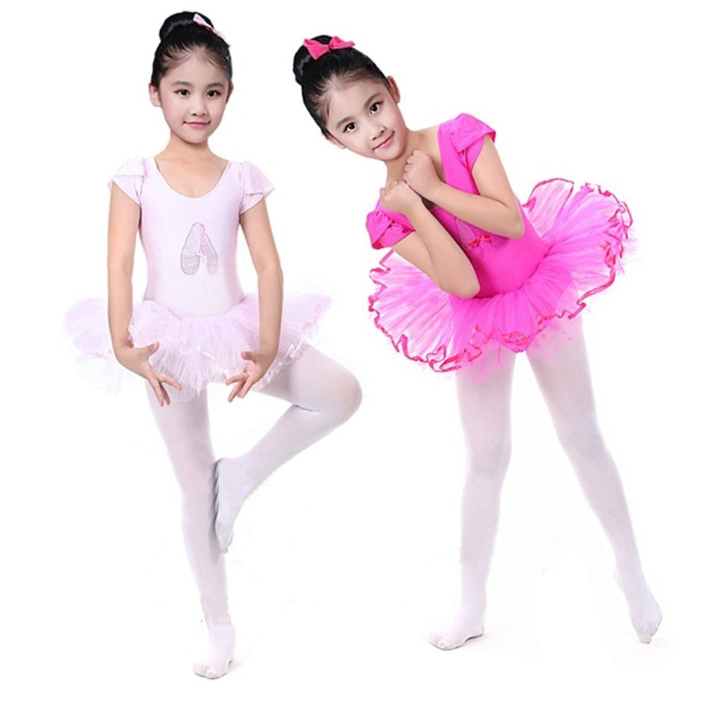 cd2566ffc106b Toddler Girls Gauze Leotards Ballet Bodysuit Dancewear Dress Clothes  Outfits ...