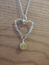 Load image into Gallery viewer, Brass 9mm Bullet Casing  with Thorned Heart