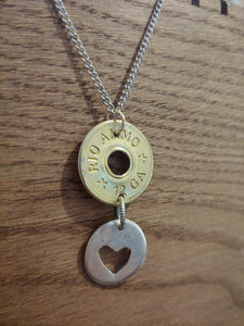 12 gauge Bullet Casing with Heart Charm