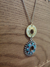 Load image into Gallery viewer, 12 gauge Bullet Casing with Round Turquoise Charm