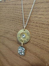 Load image into Gallery viewer, 20 gauge Bullet Casing with Square Crystal Charm