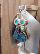 Load image into Gallery viewer, Silver .40 Casings with Teal Druzy
