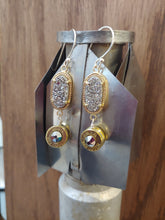 Load image into Gallery viewer, Brass 9mm Bullet Casings with Silver Druzy