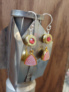 Brass .223 Bullet Casings with Pink Druzy