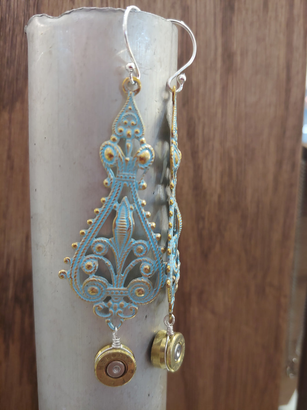 Brass .223 Bullet Casings with Chandelier Charm