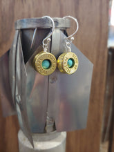 Load image into Gallery viewer, Brass 45 Bullet Casings with Turquoise