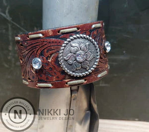 Recycled Belt with Crystal Accent