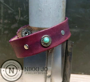 Purple Leather & Black Browning 9mm Bullet Casing