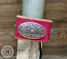 Load image into Gallery viewer, Wide Pink Leather & Western Charm