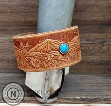 Load image into Gallery viewer, Wide Wild Life Leather & Turquoise
