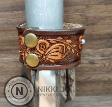 Load image into Gallery viewer, Recycled Belt Leather Cuff