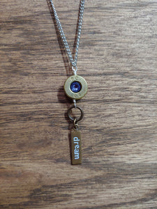 "Brass .308 Bullet Casing & ""Dream"" Charms"