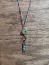 "Load image into Gallery viewer, Brass .223 Bullet Casing & ""hope"" Charms"
