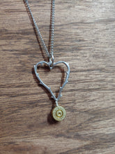 Load image into Gallery viewer, Brass .223 Bullet Casing & Heart With thorns