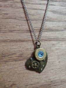 Brass .45ACP Bullet Casing with Steam Punk Heart