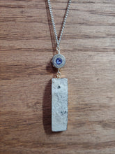 Load image into Gallery viewer, Silver .40 Bullet Casing  with White Druzy