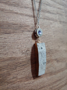 Silver .40 Bullet Casing  with White Druzy