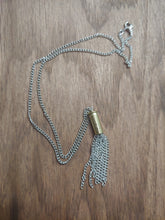 Load image into Gallery viewer, Brass .22LR Bullet Casing With Chain Tassel