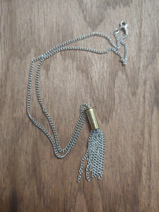 Brass .22LR Bullet Casing With Chain Tassel