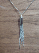 Load image into Gallery viewer, Silver .32 Bullet Casing With Chain Tassel