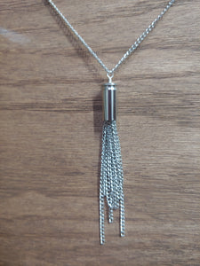 Silver .32 Bullet Casing With Chain Tassel