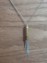 Load image into Gallery viewer, Brass 5.7x28 Bullet Casing With Chain Tassel