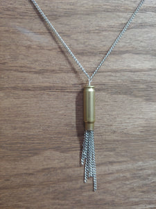 Brass 5.7x28 Bullet Casing With Chain Tassel