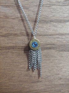 Brass 9mm Bullet Casing With Chain Tassel