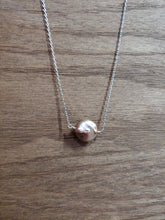 Load image into Gallery viewer, Round Pink Coin Pearl Necklace